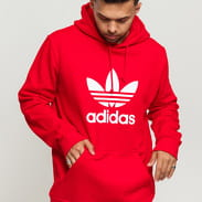 adidas Originals Trefoil Hoodie červená