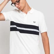 FRED PERRY Sports Tape Pique Shirt blue / turquoise