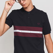FRED PERRY Sports Tape Pique Shirt navy