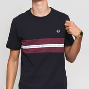 FRED PERRY Sports Tape Tee navy