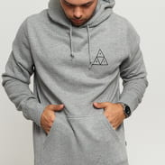 HUF Hoodie Essentials Triple Triangle melange šedá