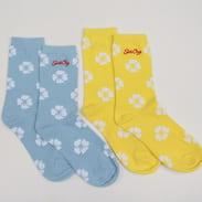 Santa Cruz Women 2Pack Liberty Rose Socks žluté / světle modré / bílé