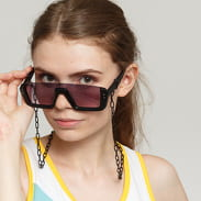 Urban Classics 106 Chain Sunglasses Future černé