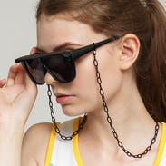 Urban Classics 108 Chain Sunglasses Visor black satin