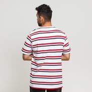 Urban Classics Yarn Dyed Skate Stripe Tee weiß / rot / marine