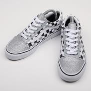Vans Old Skool (glitter checkerboard) silver / true white