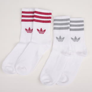 adidas Originals 2 Pack Mid Cut GLT Sock