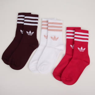 adidas Originals 3 Pack Mid Cut Crew Sock