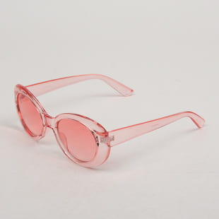 Jeepers Peepers Pink Oval Sunglasses