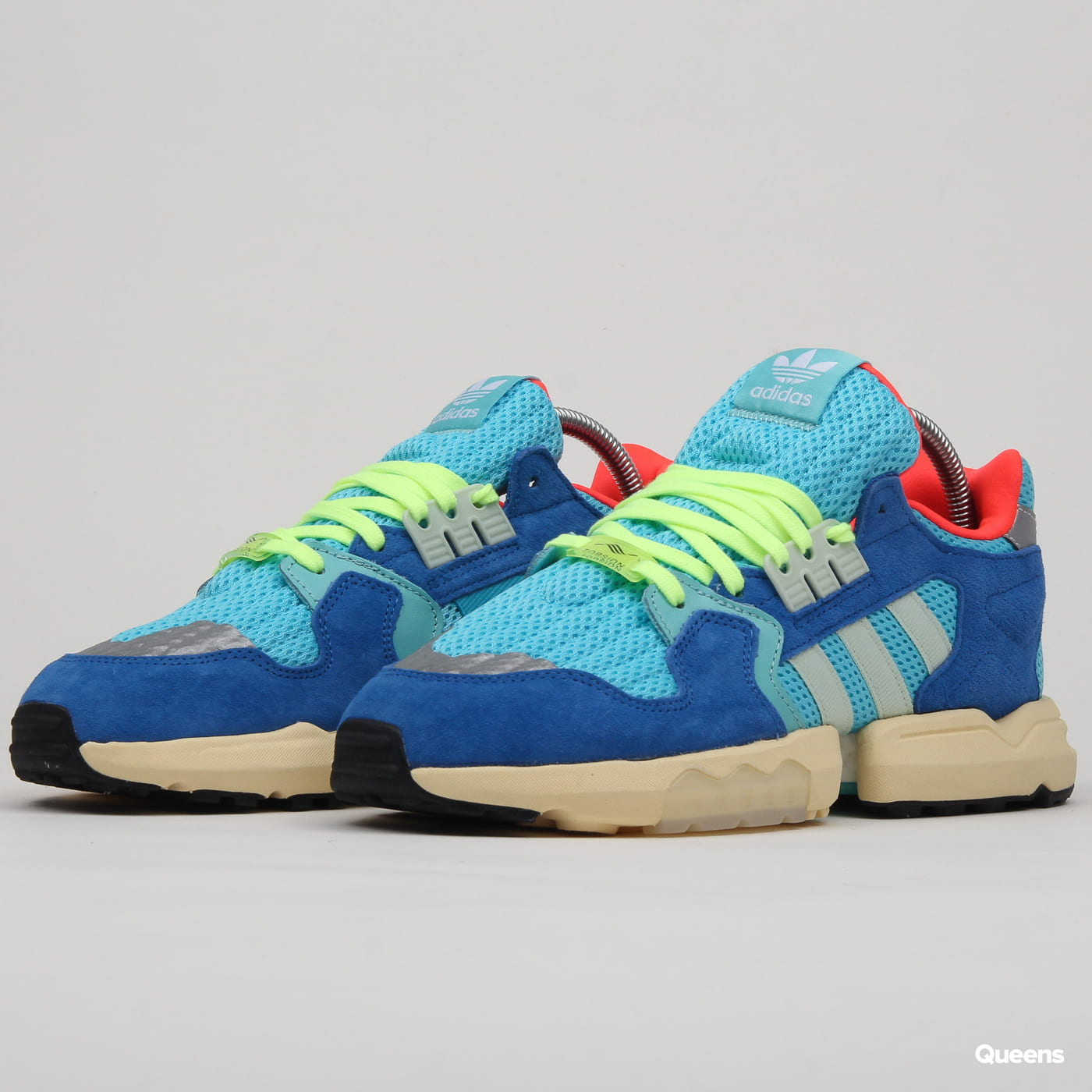 hot sale online 14e6b 39fca adidas Originals ZX Torsion brcyan / lingrn / blue