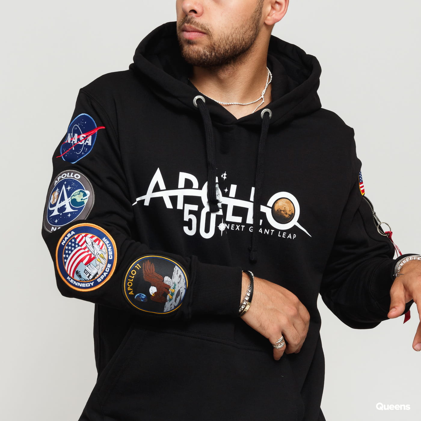 Alpha Industries Apollo 50 Patch Hoody čierna