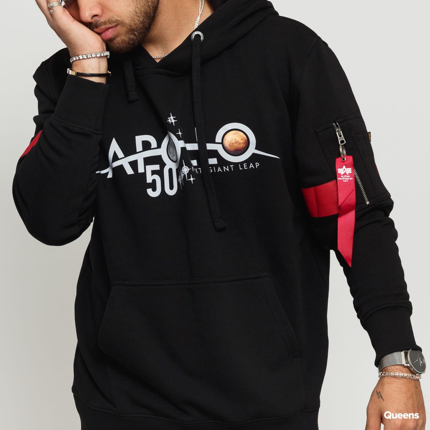 Alpha Industries Apollo 50 Reflective Hoody schwarz