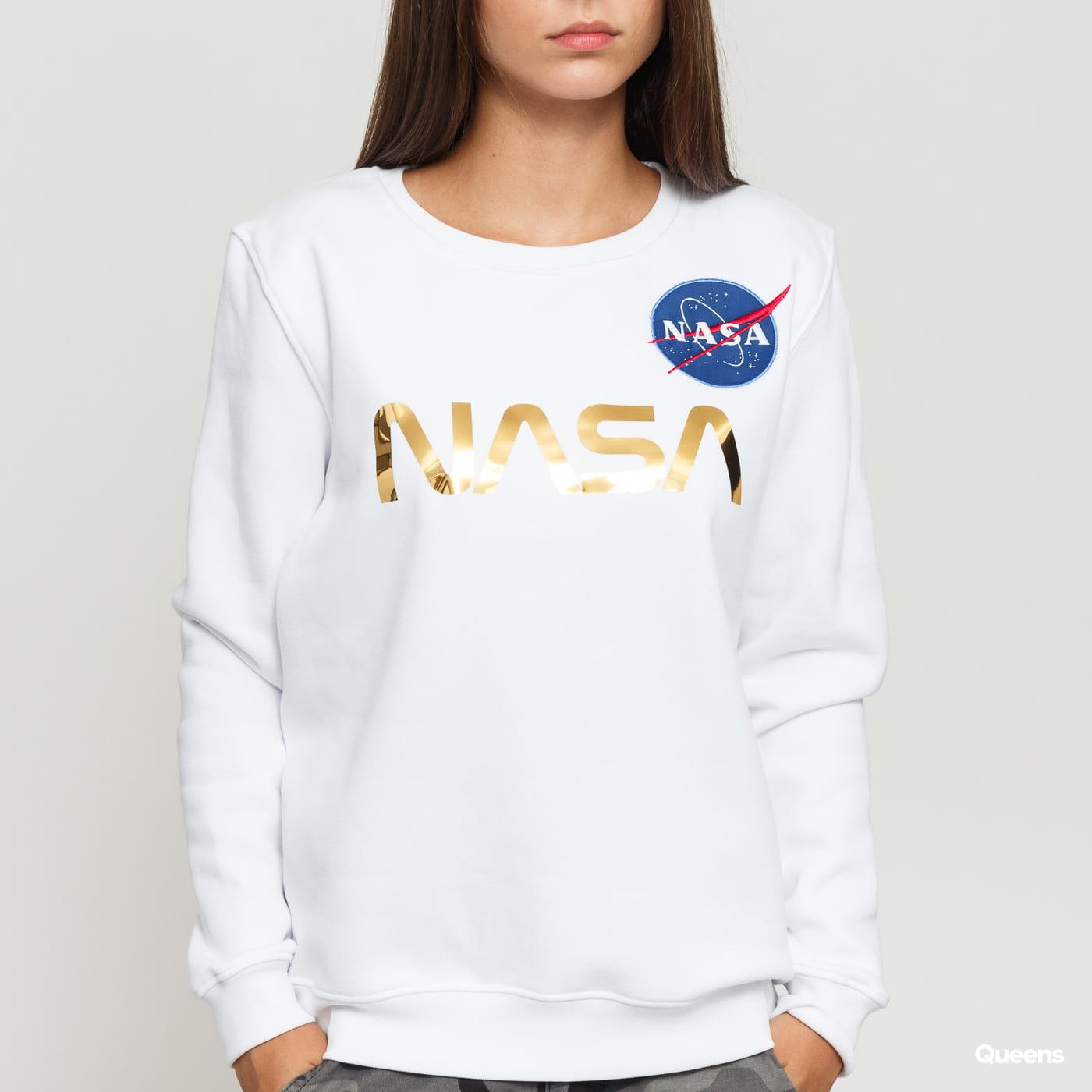 Alpha Industries NASA PM Sweater Wmn white / golden