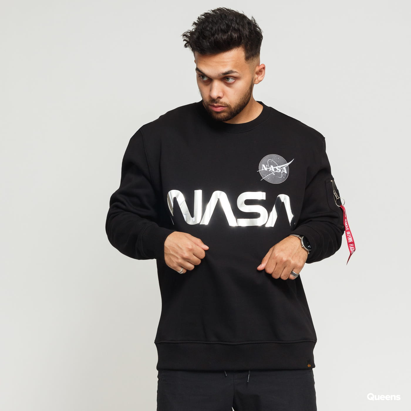 Alpha Industries NASA Reflective Sweater black / silver