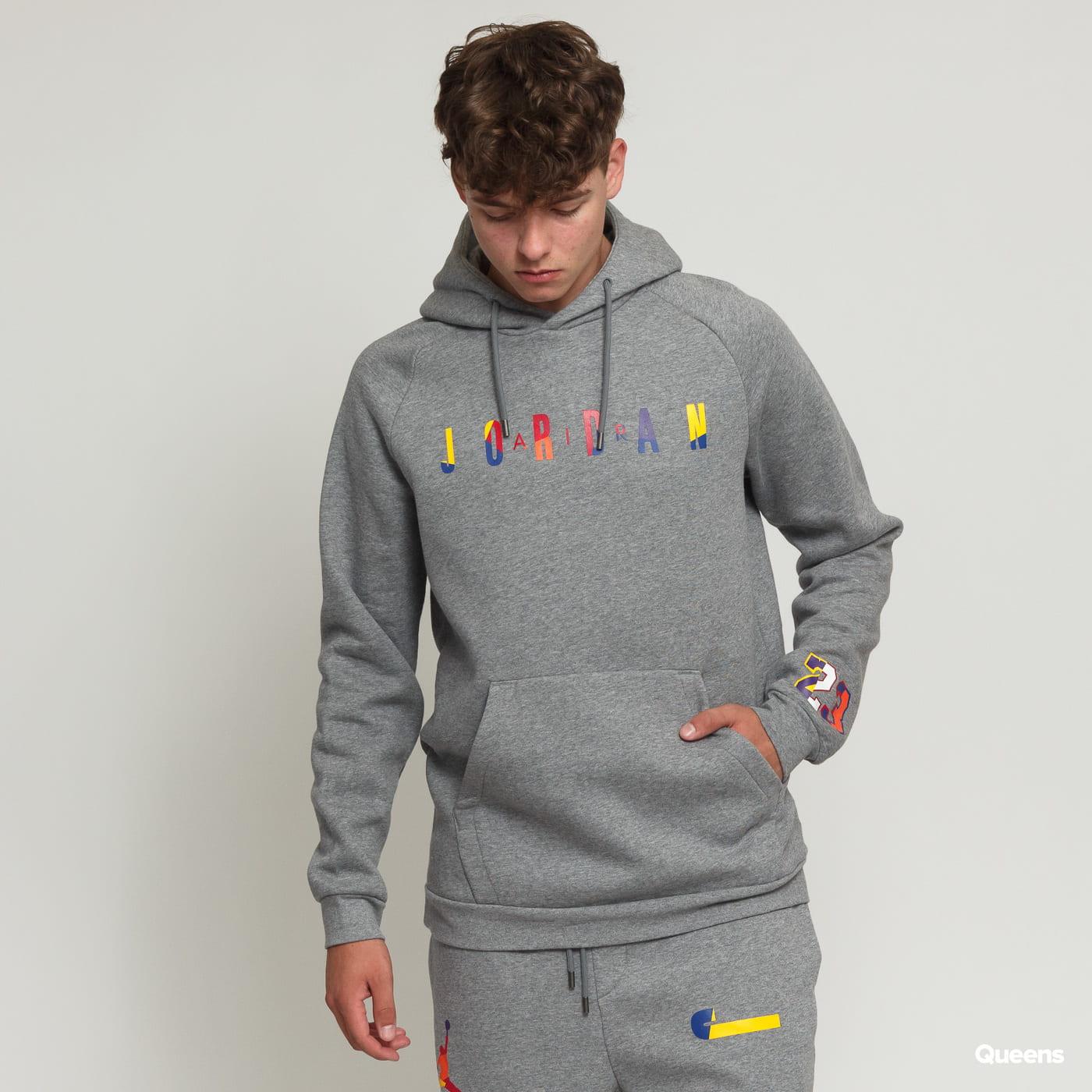 sekcja specjalna piękno kupować tanio Jordan M J Sport DNA HBR Fleece PO Hoodie melange gray