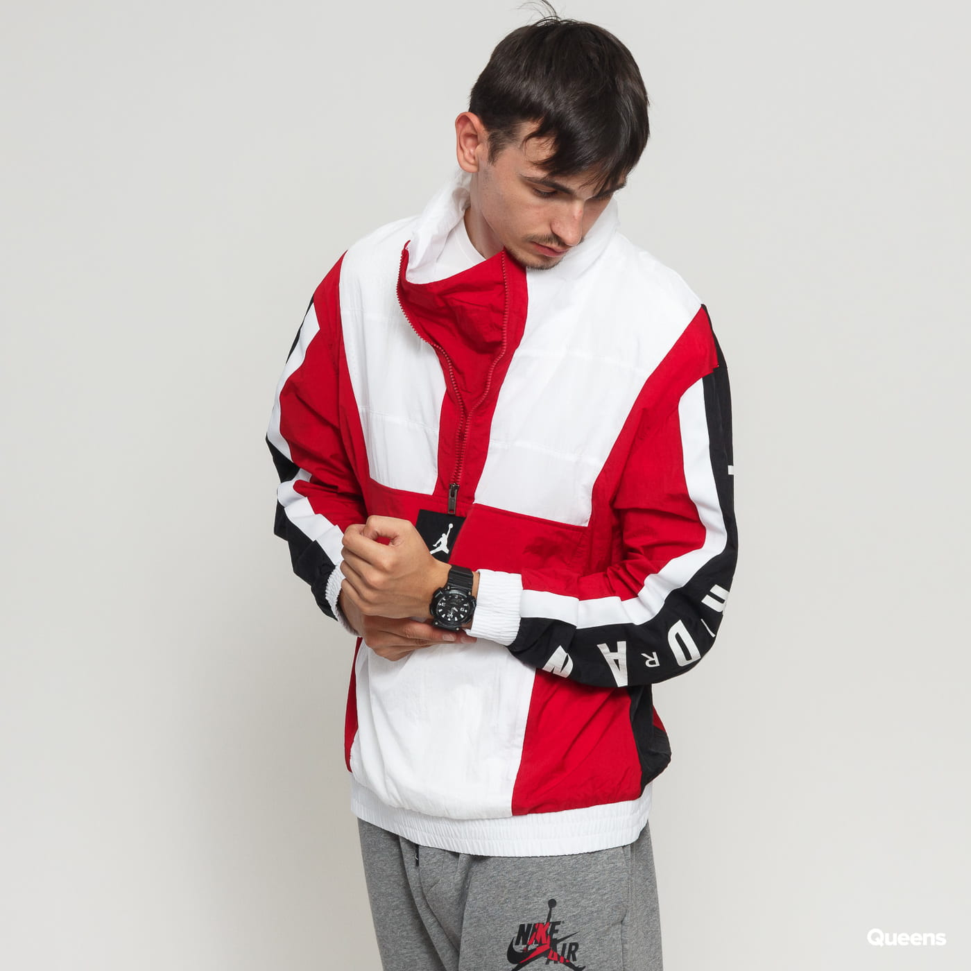 ba9064b394 Jordan M J Wings Windwear Jacket white / red