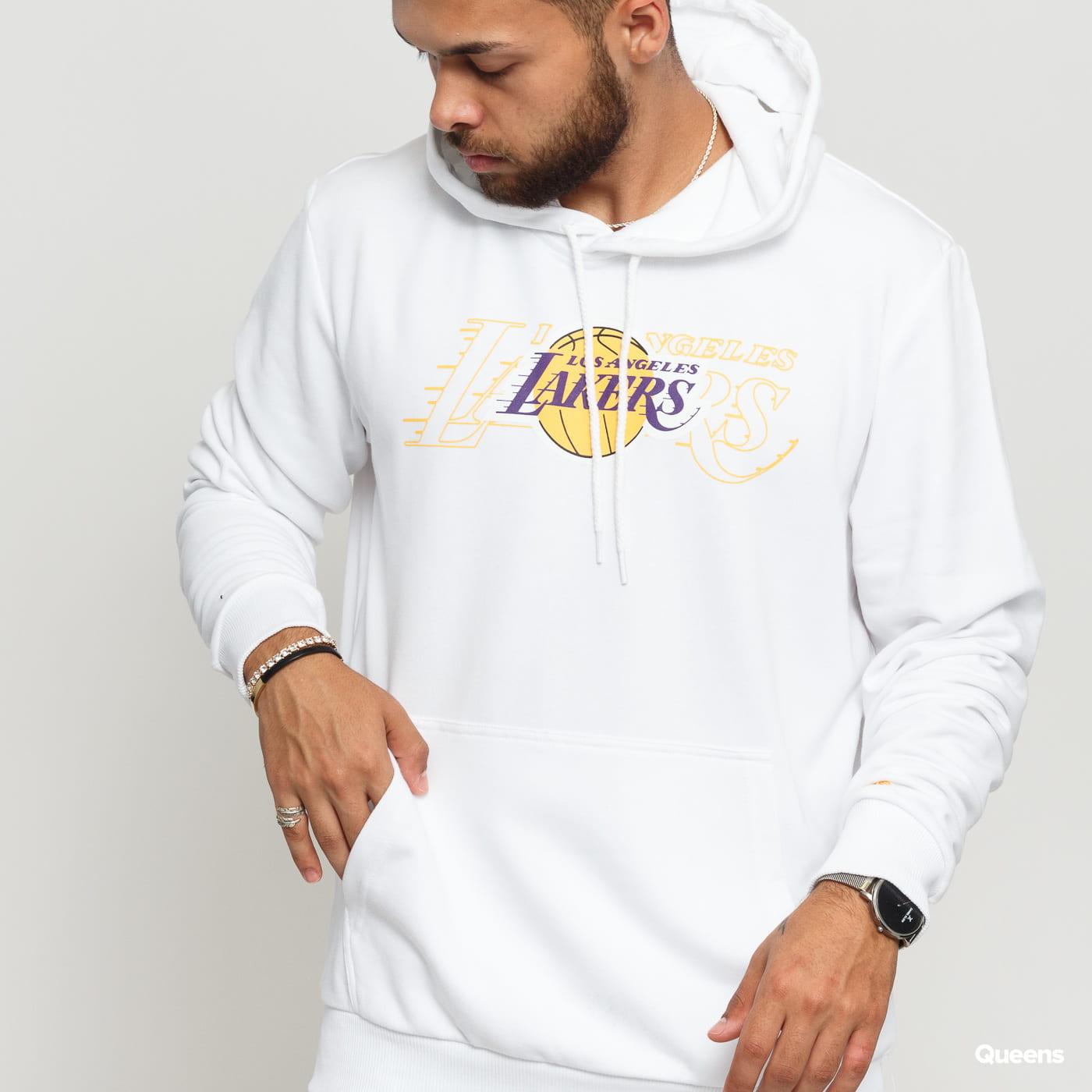 New Era NBA Graphic Overlap Hoody LA Lakers biela