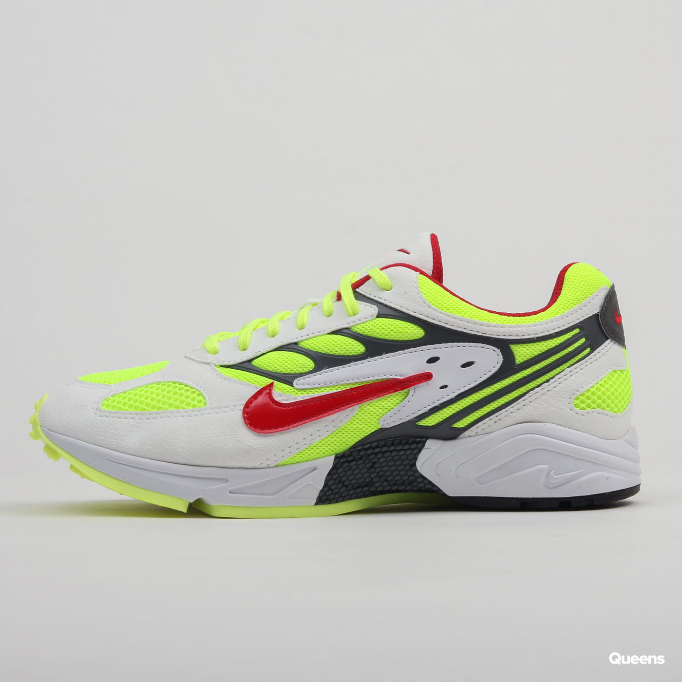 Nike Air Ghost Racer white / atom red - neon yellow