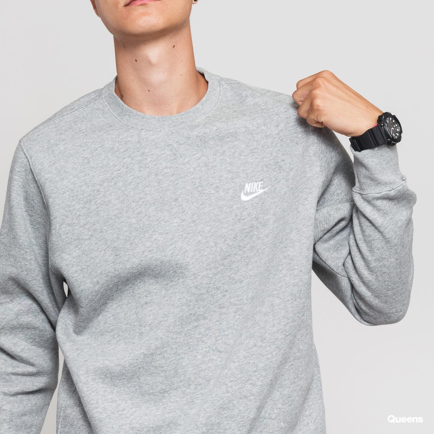 Nike M NSW Club Crew BB šedá