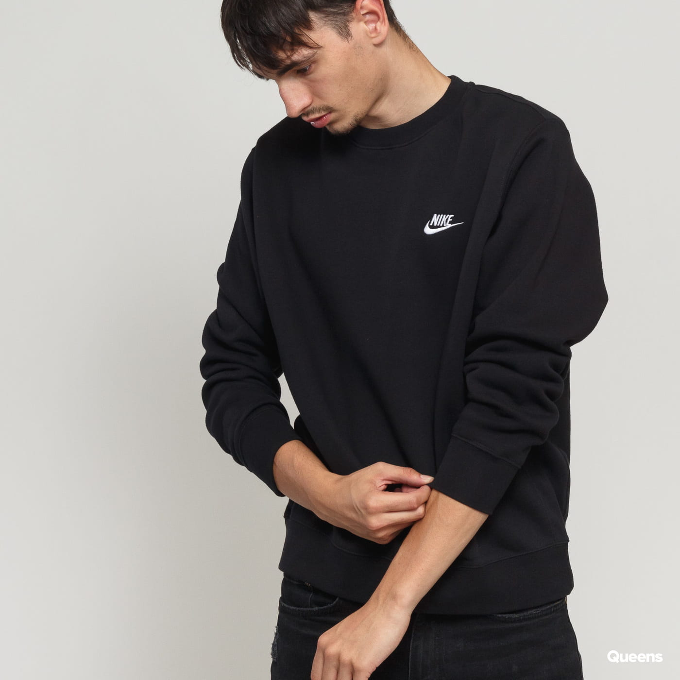 Nike M NSW Club Crew BB čierna