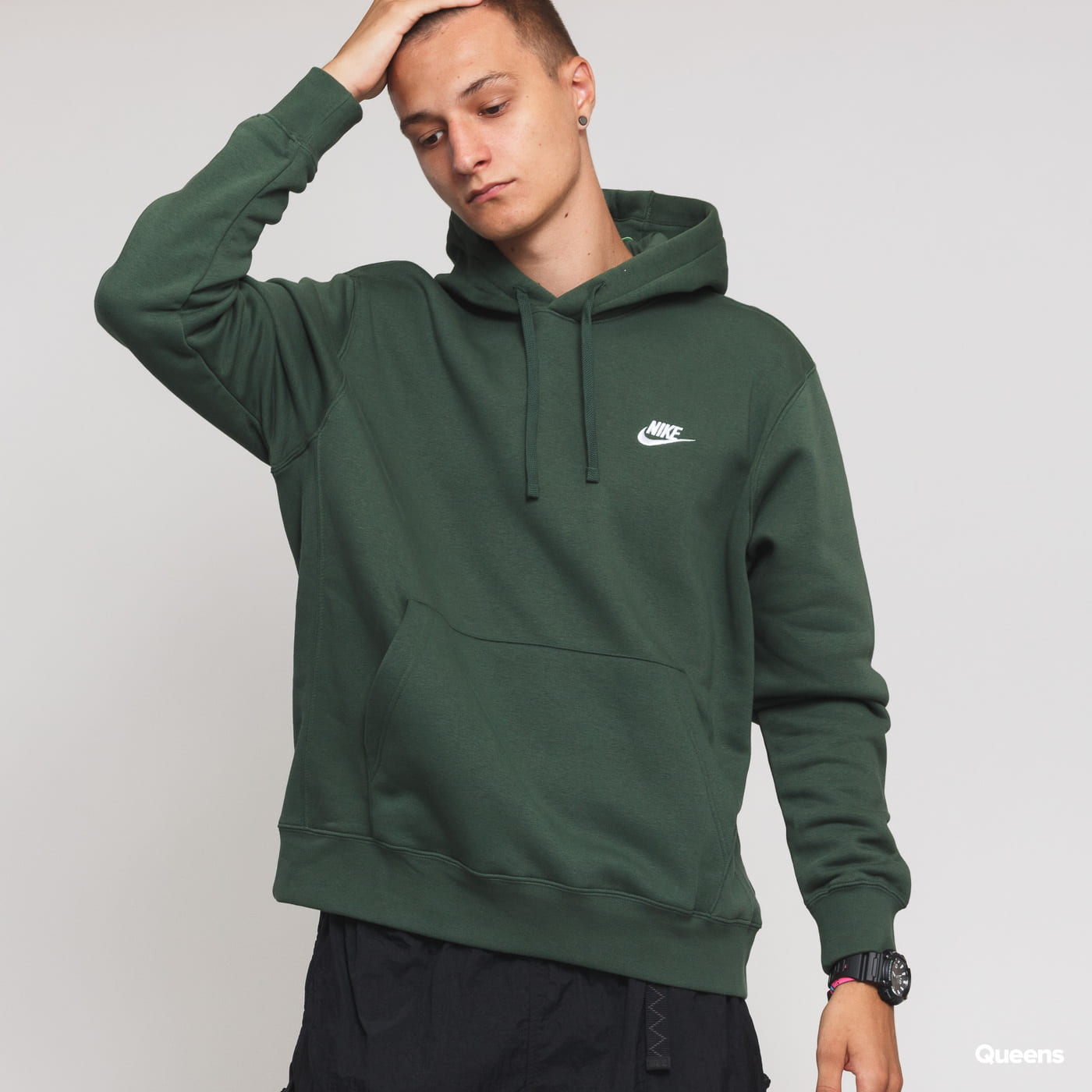 73c23035d Nike Dark Bb M Club Nsw Green Po Hoodie eWHY9ED2I