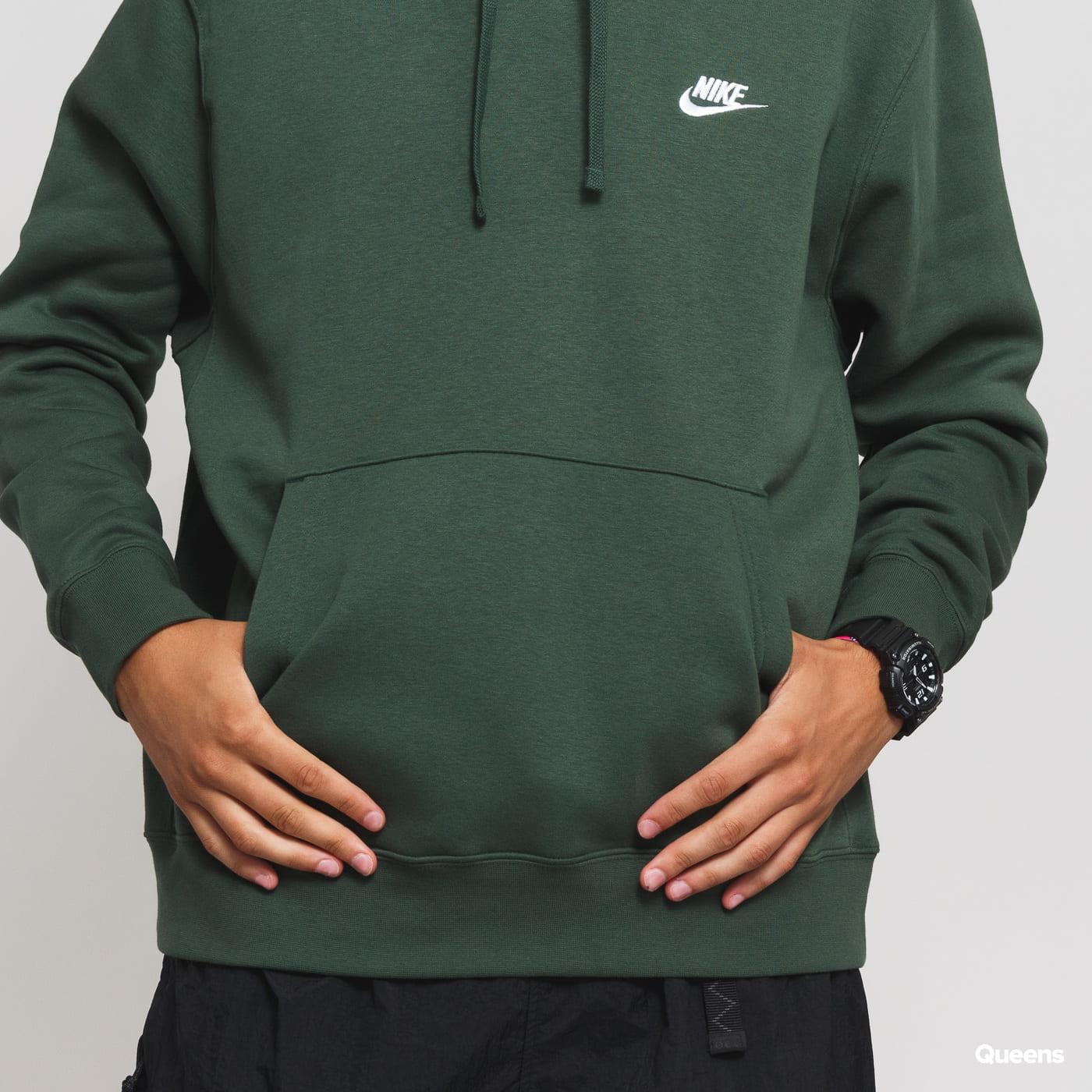 Nike M NSW Club Hoodie PO BB dark green