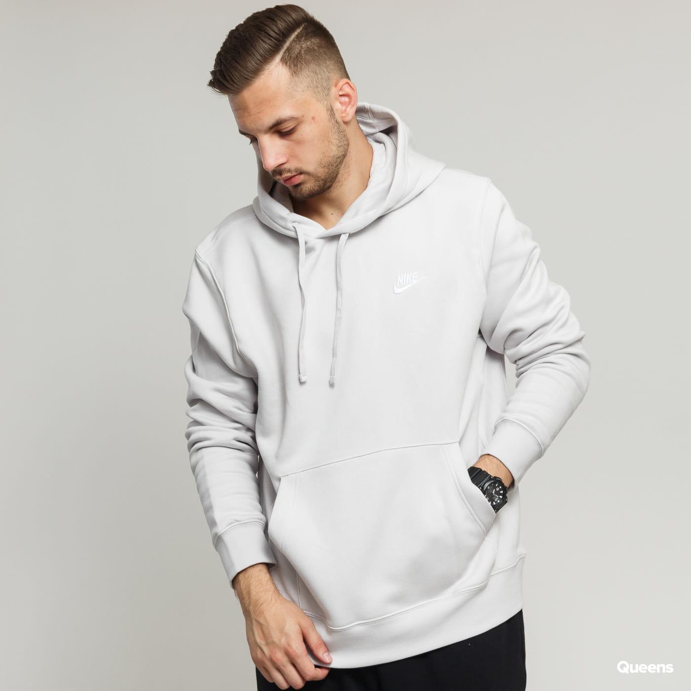 Nike M NSW Club Hoodie PO BB light gray