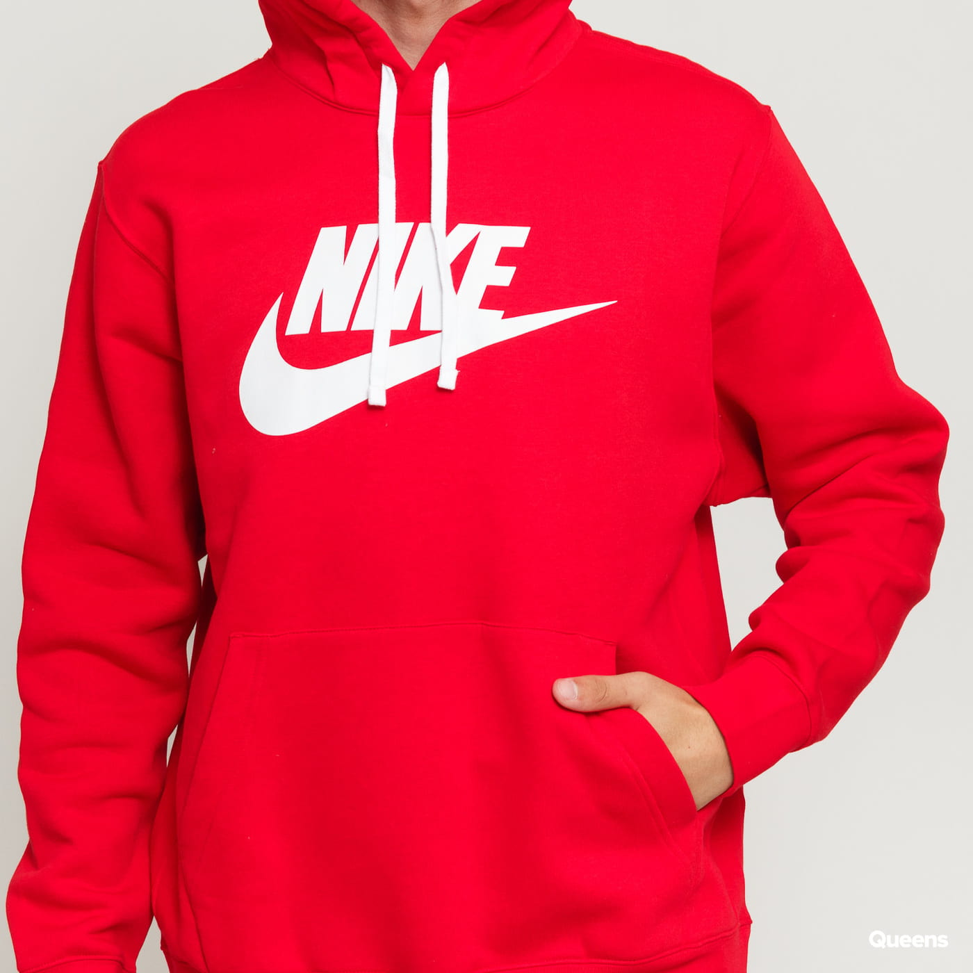 Nike M NSW Club Hoodie PO BB červená