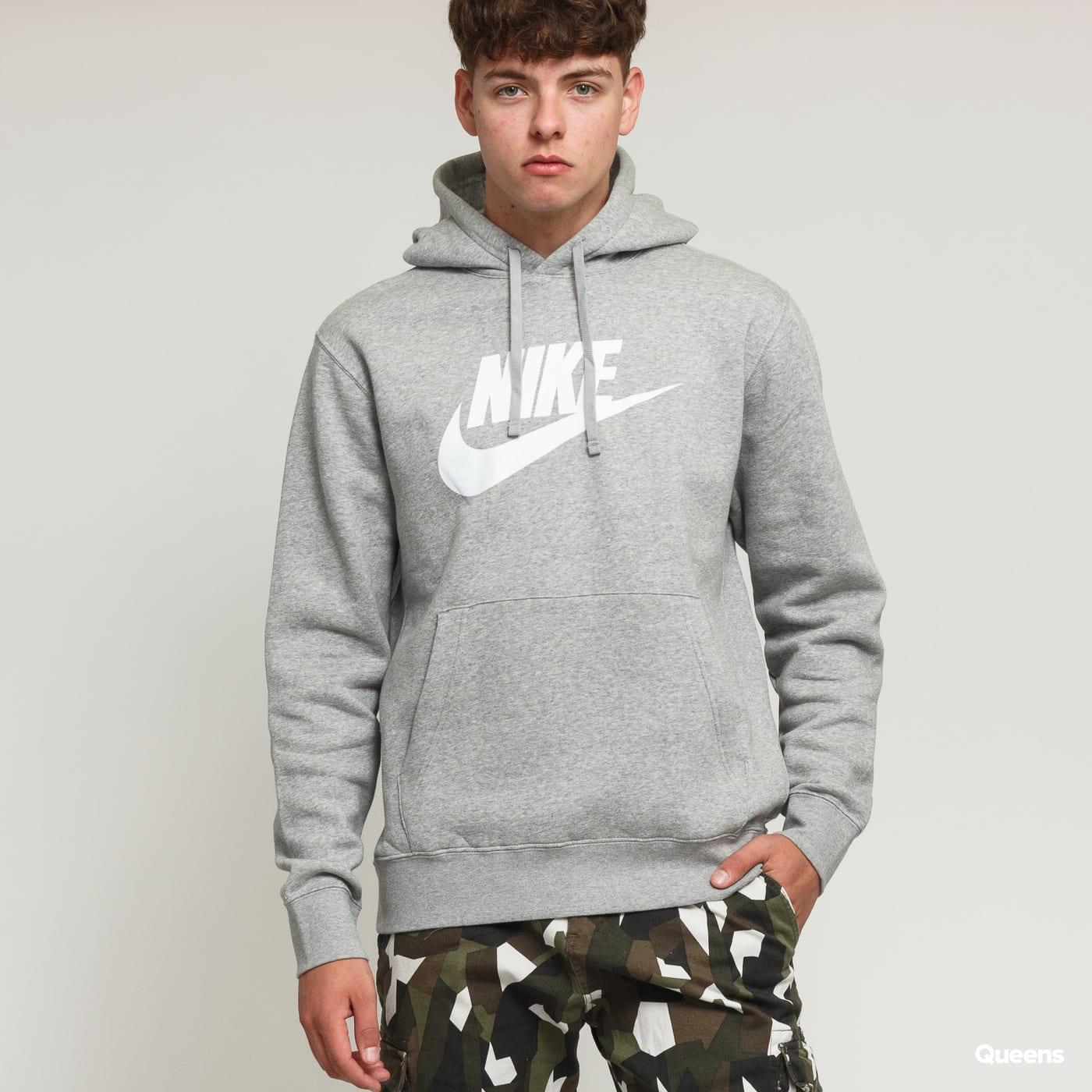 Nike M NSW Club Hoodie PO BB melange gray