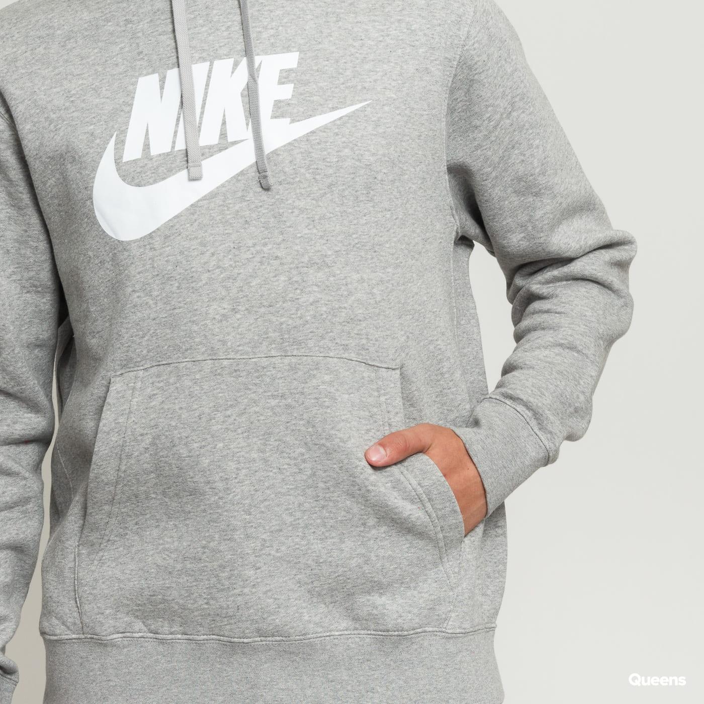Nike M NSW Club Hoodie PO BB šedá