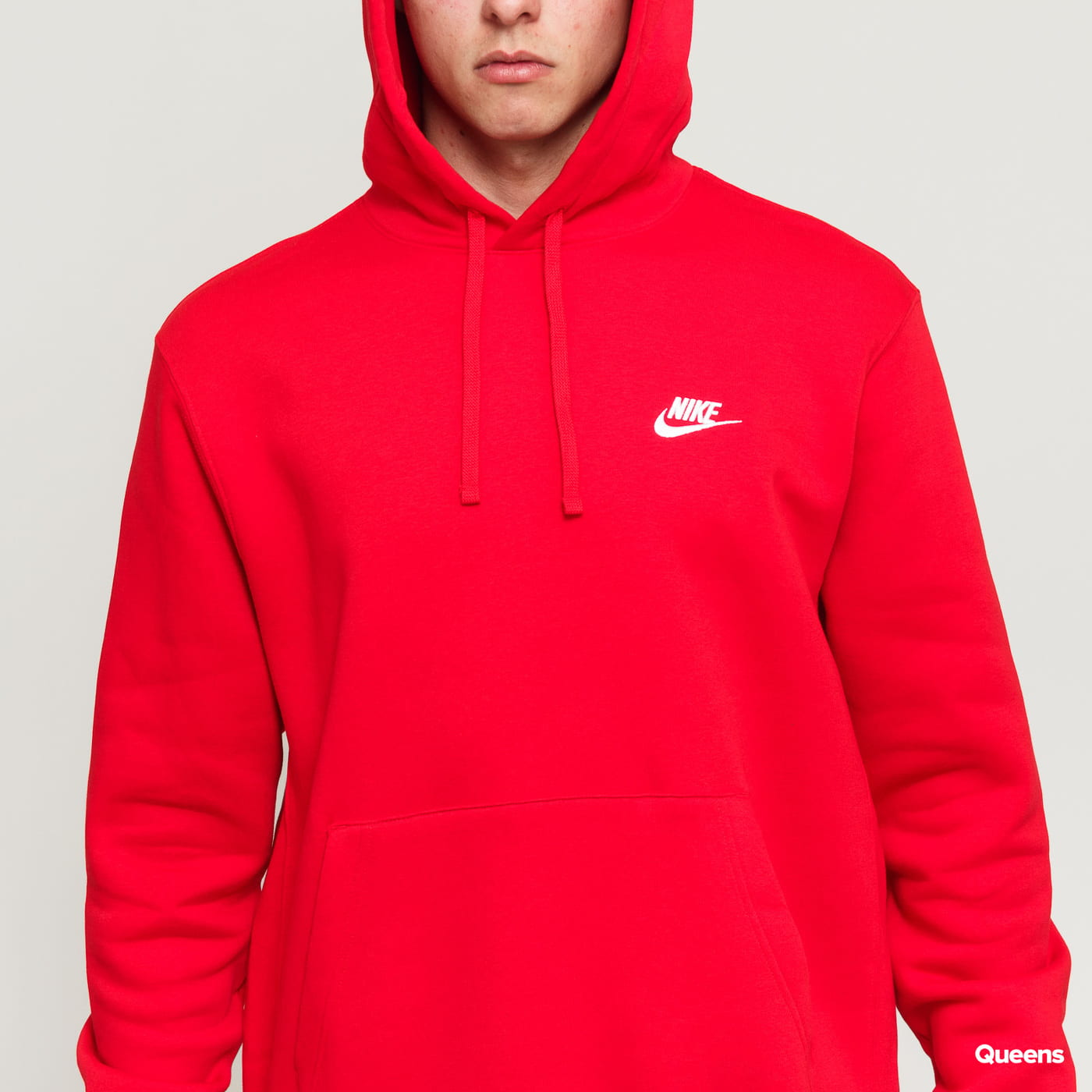 Nike M NSW Club Hoodie PO BB red