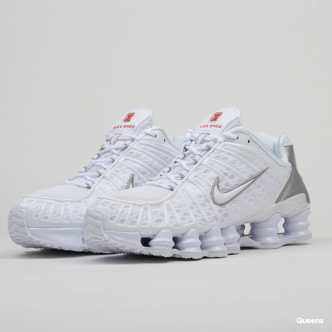 superior quality fc07e 38c14 Nike Shox TL white / white - metallic silver