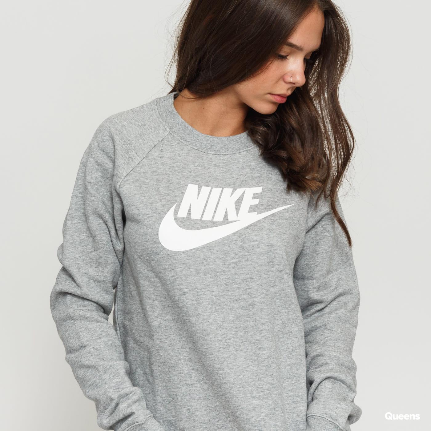 Nike W NSW Essential Crew Fleece HBR grey