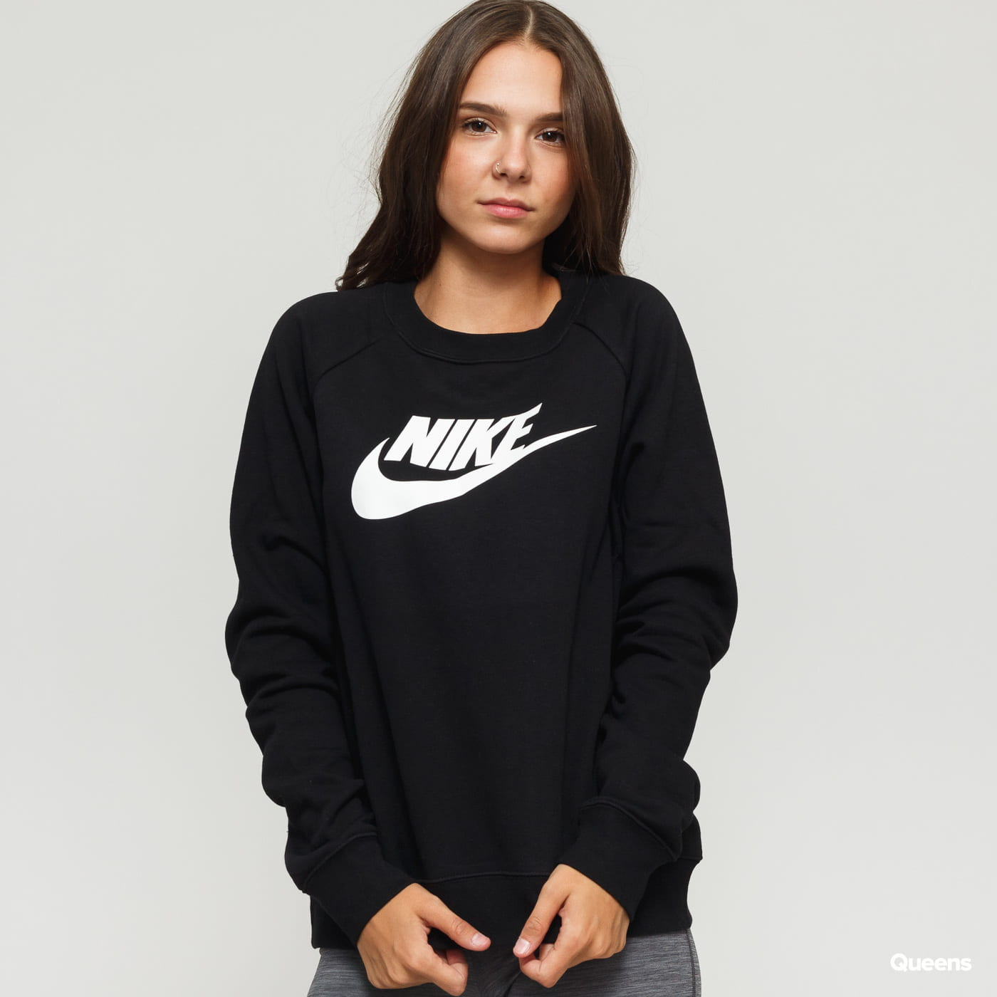 Nike W NSW Essential Crew Fleece HBR schwarz