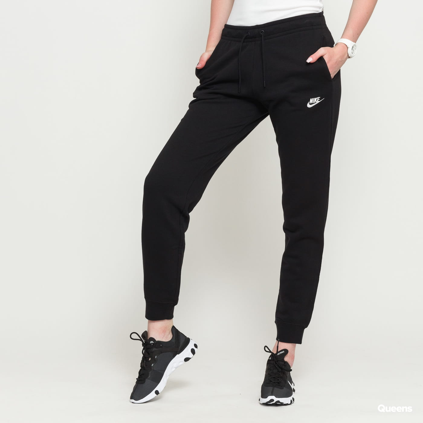 Nike W NSW Essential Pant Reg Fleece čierne