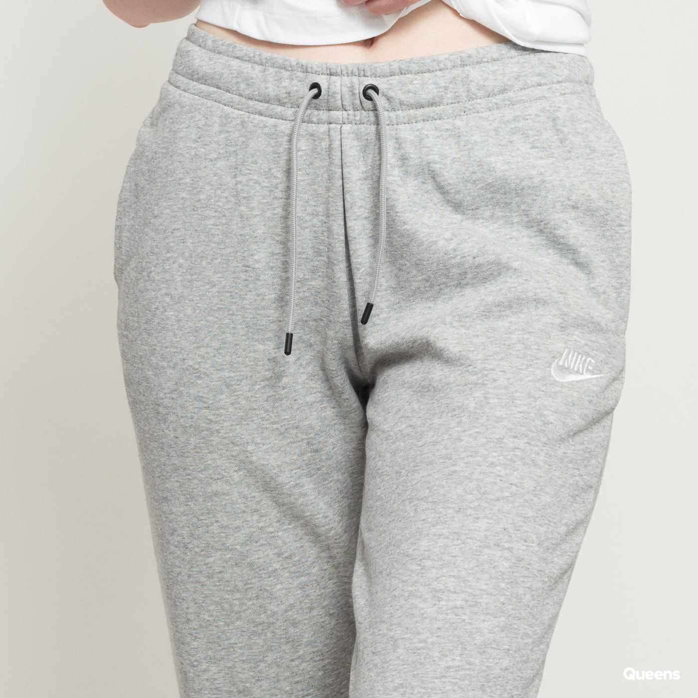 Nike W NSW Essential Pant Reg Fleece melange šedé
