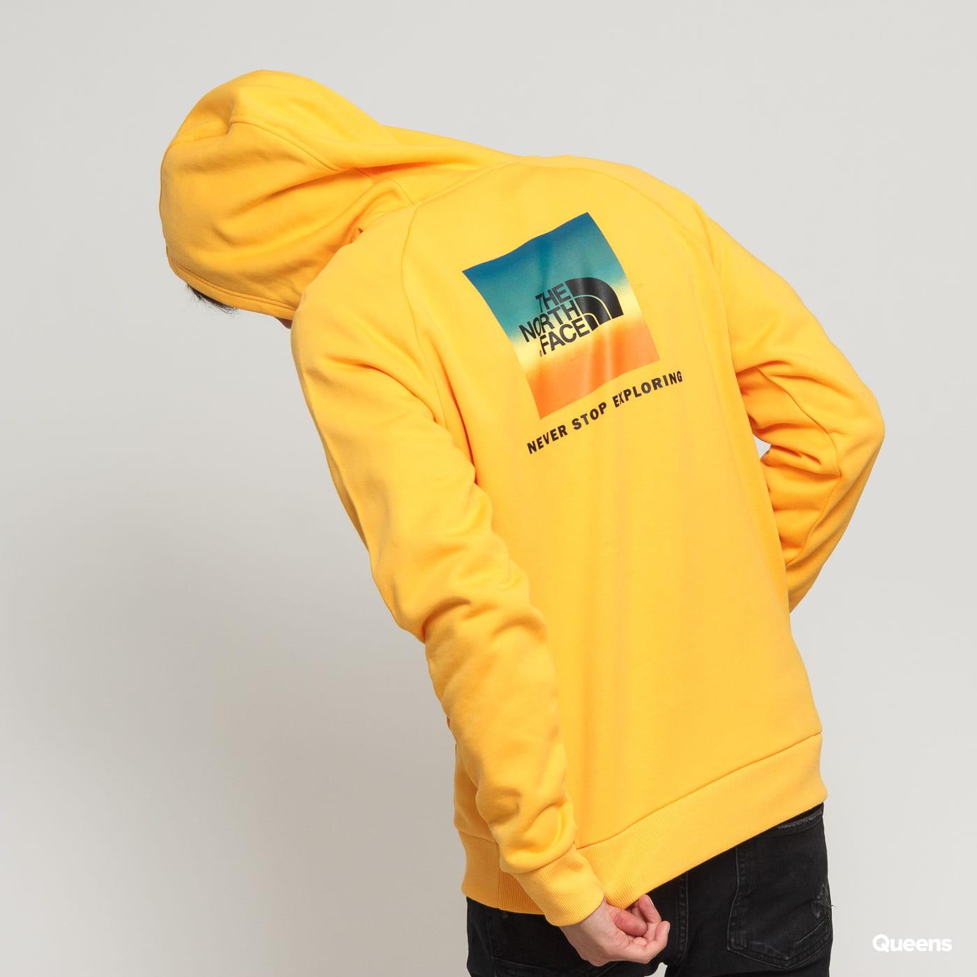 1ce878895 The North Face M Raglan Red Box Hoody dark yellow