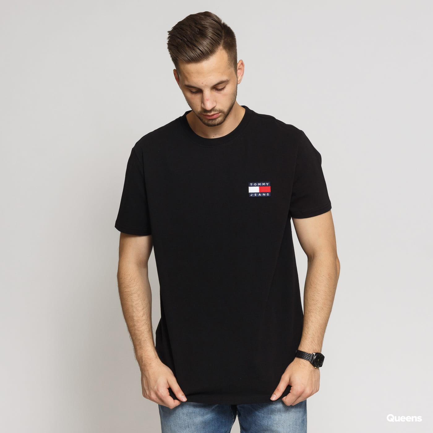 TOMMY JEANS M Tommy Badge Tee black
