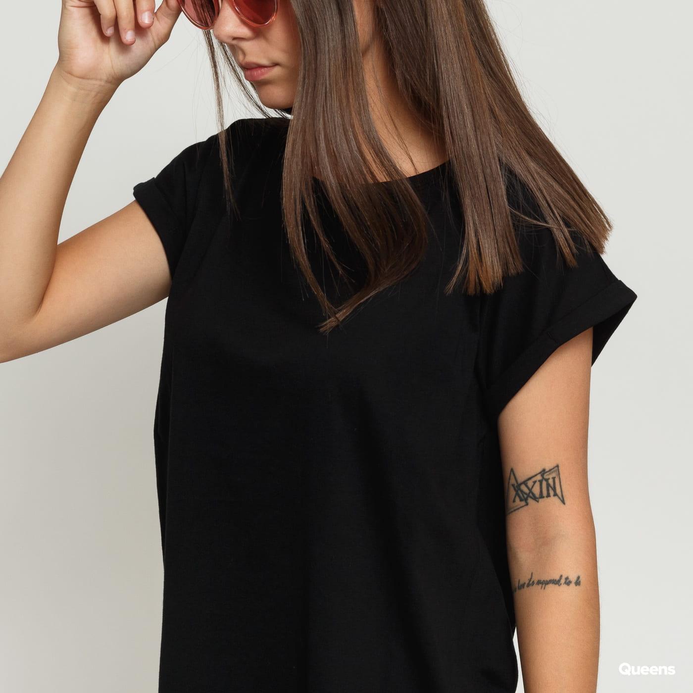 Urban Classics Ladies Organic Extended Shoulder Tee čierne