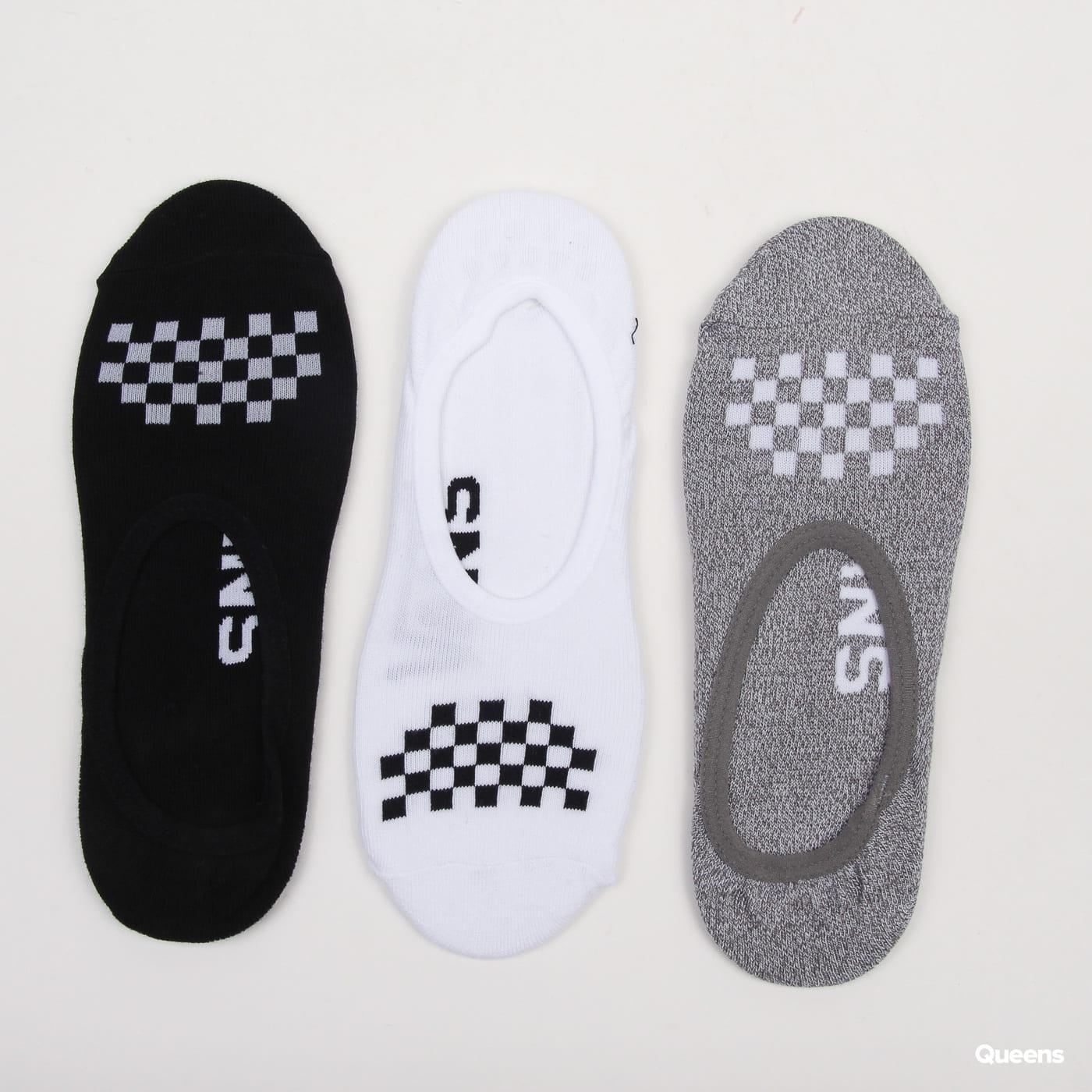 Vans WM 3Pack Classic Canoodle Socks weiß / melange grau / schwarz