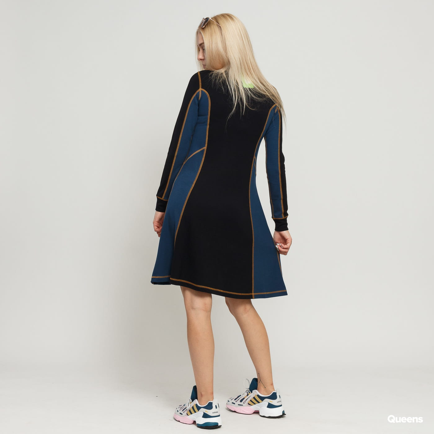 WOOD WOOD Mandy Dress black / navy