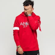 Alpha Industries Apollo 50 Reflective Hoody červená