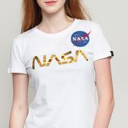 Alpha Industries NASA PM Tee Wmn bílé