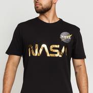 Alpha Industries NASA Reflective Tee puma black