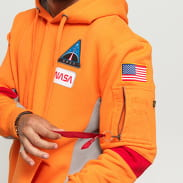 Alpha Industries Space Camp Hoody oranžová