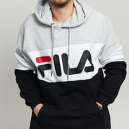 Fila Men Night Blocked Hoody melange gray / black / white