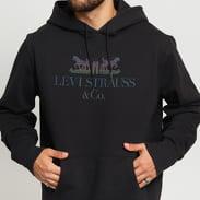 Levi's ® Graphic PO Hoodie 90s Logo Text černá