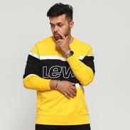 Levi's ® Pieced Crew Sweatshirt žlutá / černá / bílá