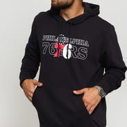 New Era NBA Graphic Overlap Hoody Philadelphia 76ers černá
