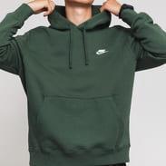 Nike M NSW Club Hoodie PO BB tmavozelená